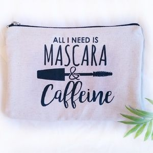 Handbags - NWT Cosmetic makeup zippered canvas travel bag